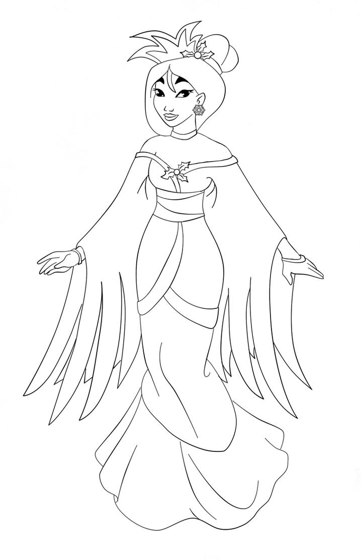 Mulan 2 Coloring Pages Lineart dragonball pics coloring pages
