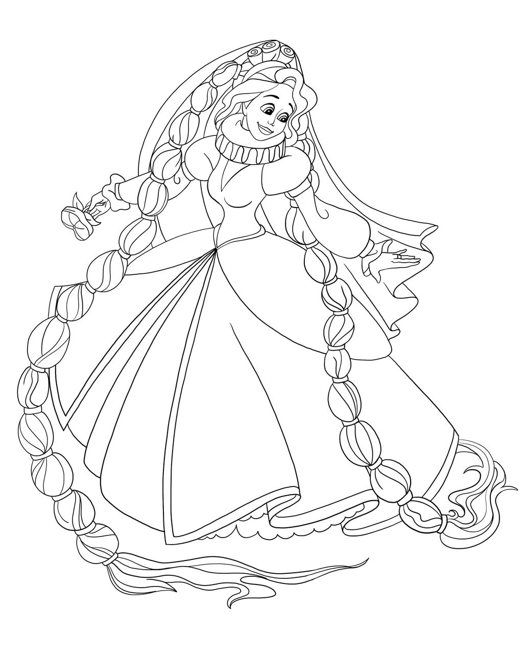 Rapunzel Lineart : Rapunzel as thumbelina iv lines by paola tosca on deviantart