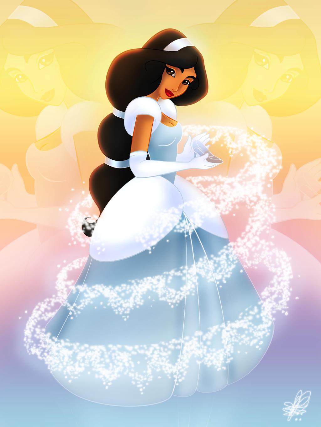 Jasmine as Cinderella - 2nd version by Paola-Tosca