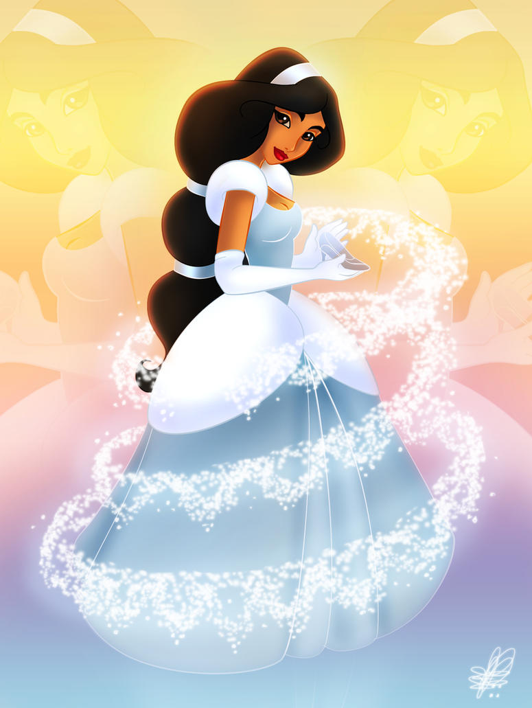 Jasmine as Cinderella - 2nd version by Paola-Tosca