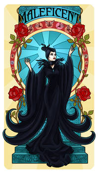 Maleficent - Art Nouveau