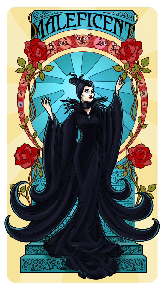 Maleficent - Art Nouveau by Paola-Tosca