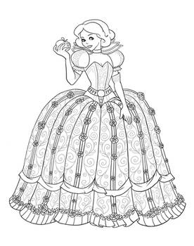 Snow White as Scarlet Overkill - Lineart
