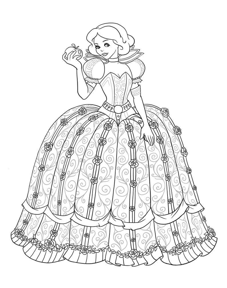 minion scarlet overkill coloring pages | Snow White as Scarlet Overkill - Lineart by Paola-Tosca on ...