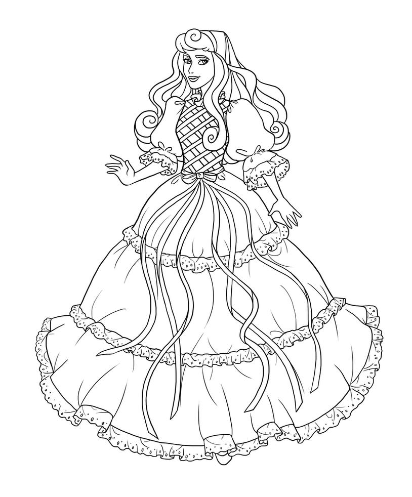 Aurora as lady lovelylocks lineart by paola tosca on for Lady lovely locks coloring pages