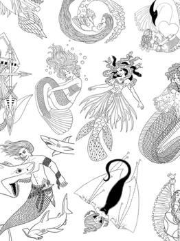 Mermay 2017 - Mermaid Linearts