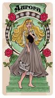 Sleeping Beauty - Art Nouveau by Paola-Tosca