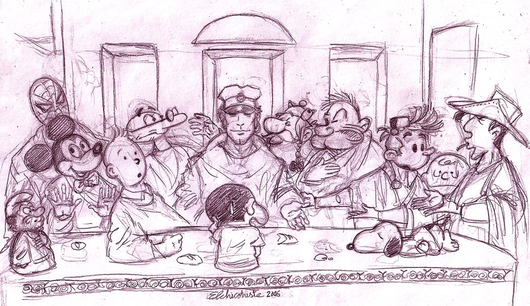 The last supper by Sadboy-Elchicotriste