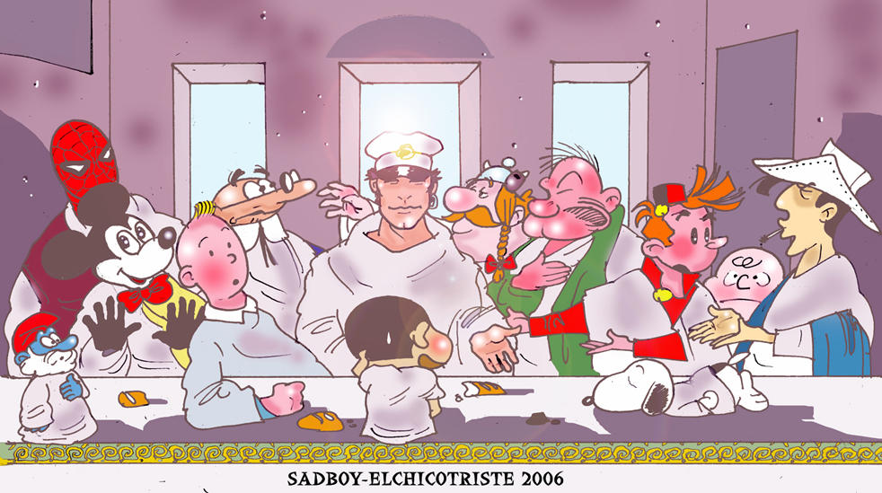 THE LAST PAPER SUPPER by Sadboy-Elchicotriste