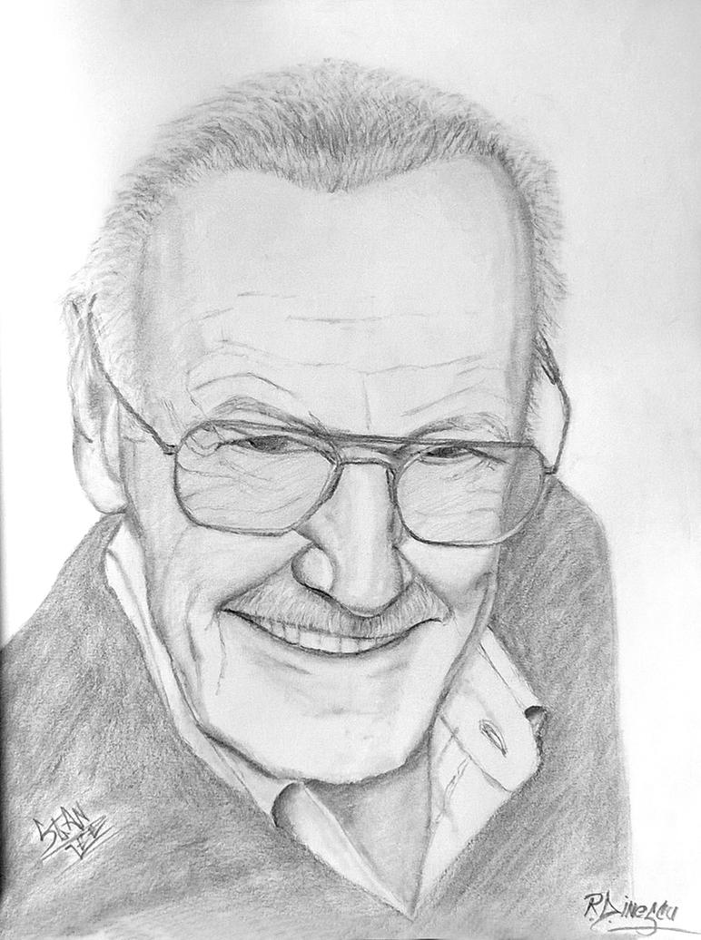 Stan Lee - pencil drawing [By Radu Ion Dinescu] by RaduIonDinescu