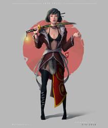 Samurai Girl by Wedly