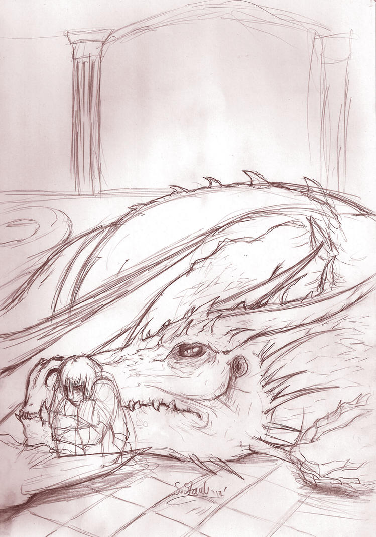 Pains and sorrows -sketch- by aussie-dragon