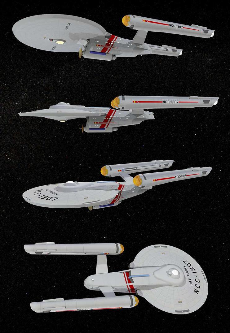 USS Aurora WIP by LordSchtupp