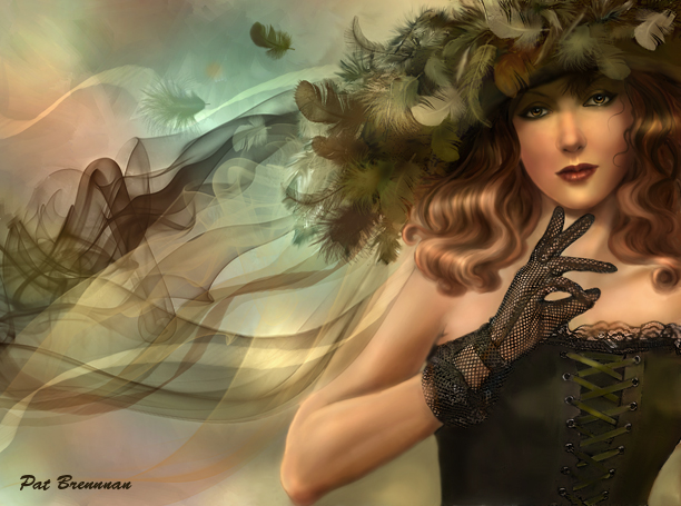 The feathered hat by patriciabrennan