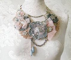 Fabric Statement Necklace