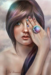 Moon Ring by patriciabrennan