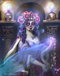 Sweet sugar Skull by patriciabrennan