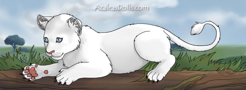 White Lion Cub by SugarLandBabyGirl