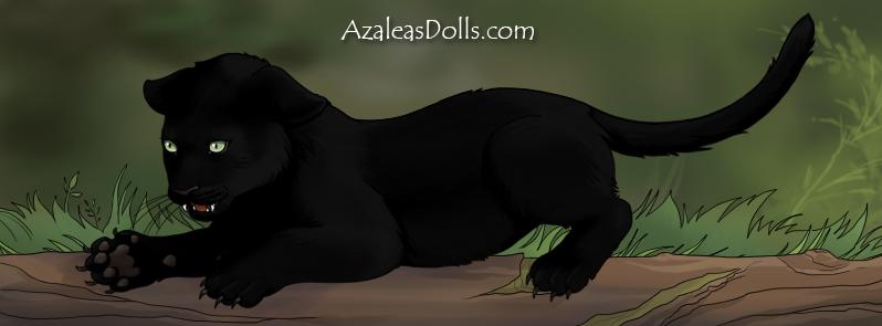 Melanistic Jaguar Cub by SugarLandBabyGirl