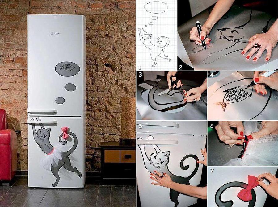 Повесить на холодильник своими руками