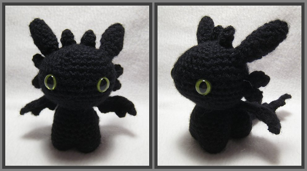 Night Fury Amigurumi by kamidake on DeviantArt