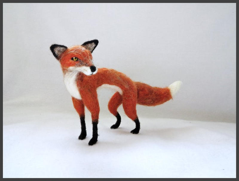 Needle Felted Fox by kamidake