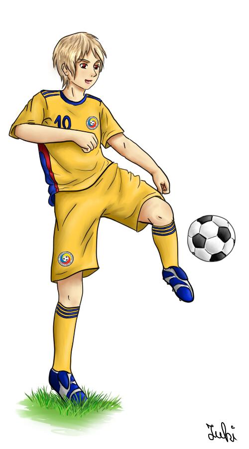 Romania the football player by iulisasuke