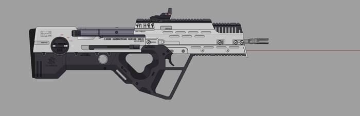 Shadowrun: FN HAR by Valgryn