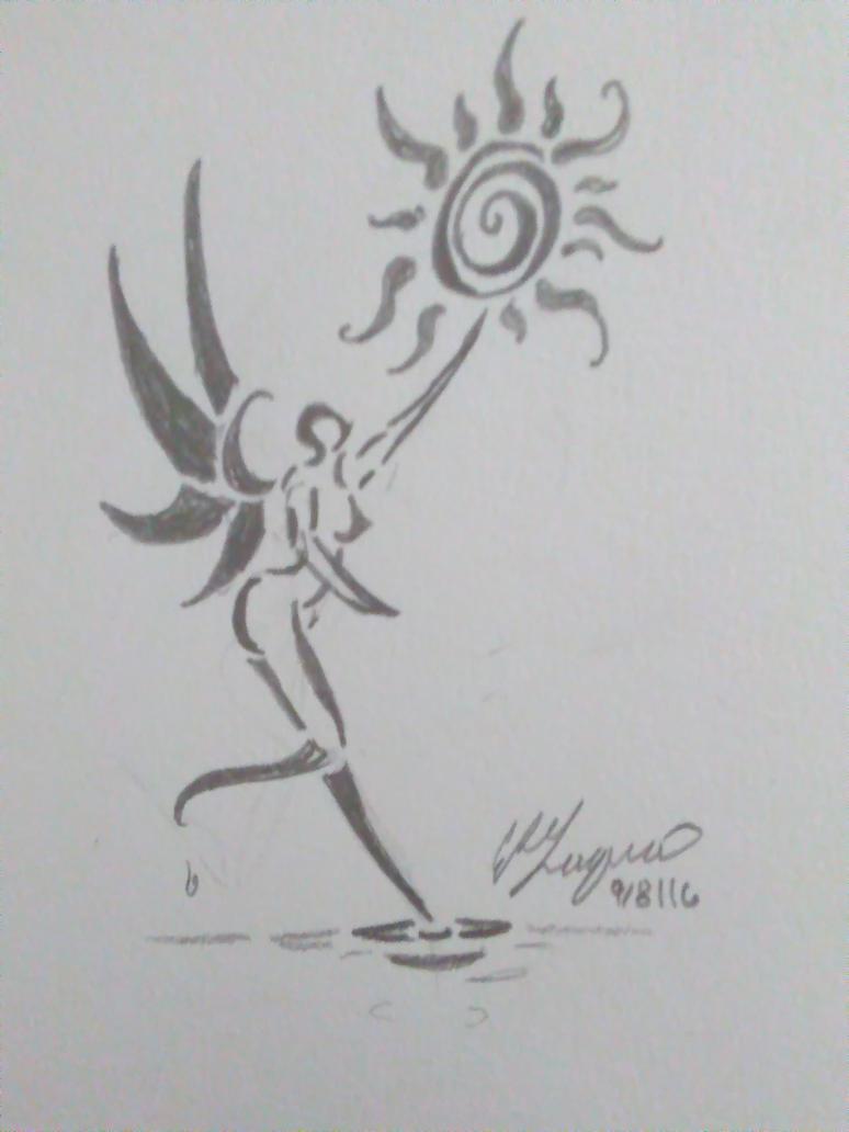 Tattoo design: Fairy by bubblegumlol