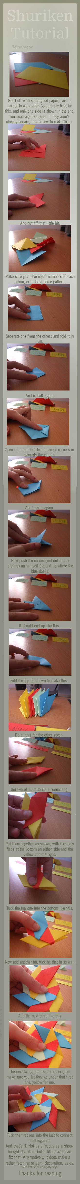 'Shuriken' Origami Tutorial by teirrah1995
