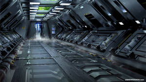 SPACESHIP INTERIOR_ENERGY ROOM ENTRANCE