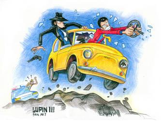 Lupin-III fan art by Masha-Ko