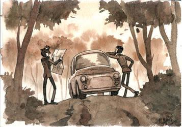 Lupin III watercolor by Masha-Ko