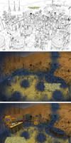 big frame of comics Stages