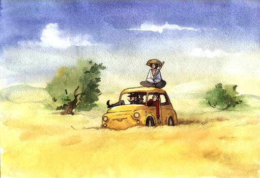 lupin III watercolour yellow