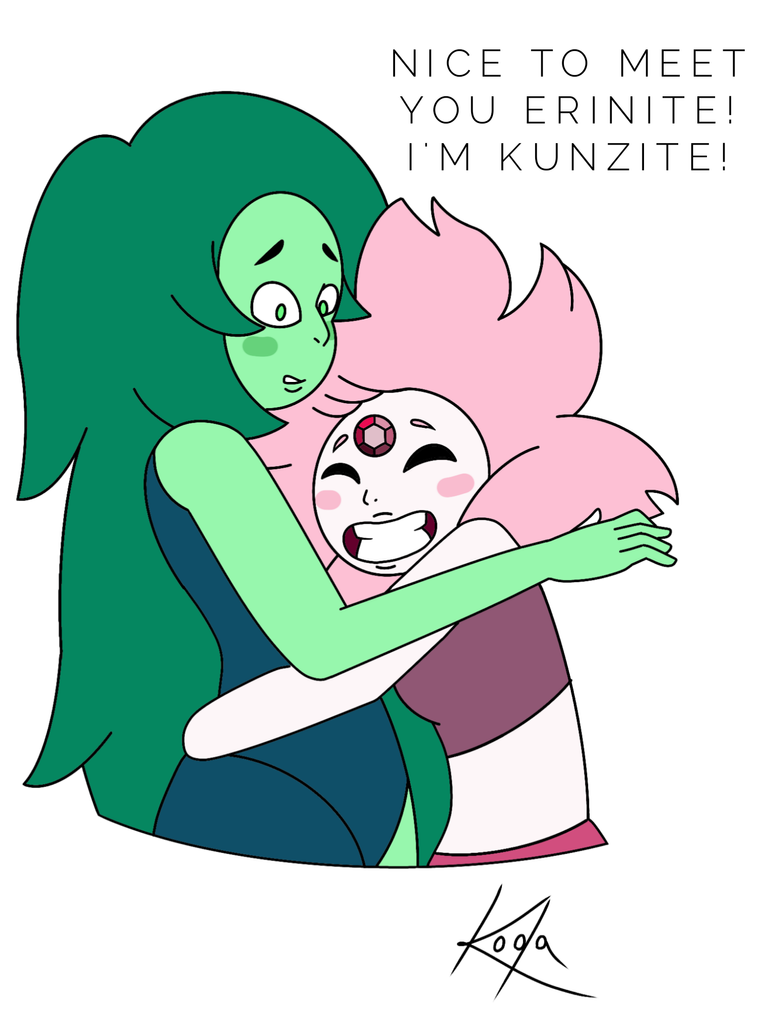 Erinite meets Kunzite for the first time by thekodakirk