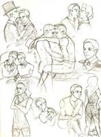Klaine sketches by Ricoka
