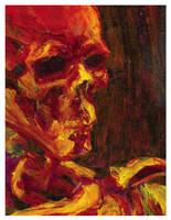 Skull on Fire by Bat-Dan