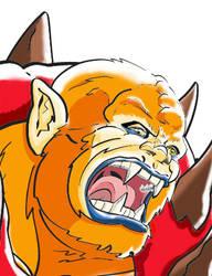 Beastman face by Bat-Dan