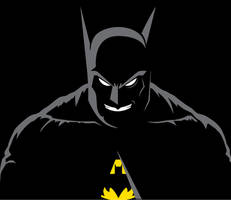 Batman Black and White (and Yellow) by Bat-Dan