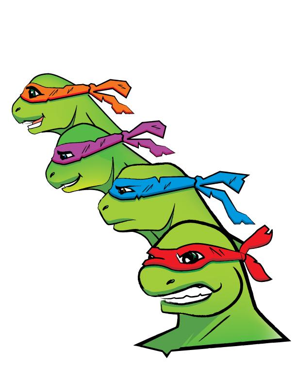 Teenage Mutant Ninja Turtles in color by Bat-Dan