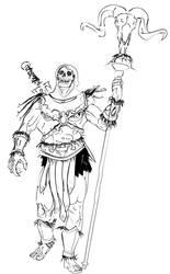 Skeletor Strolling Sketch by Bat-Dan