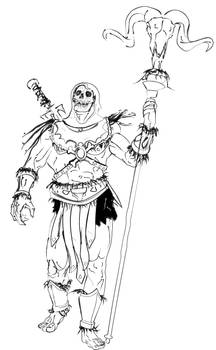 Skeletor Strolling Sketch