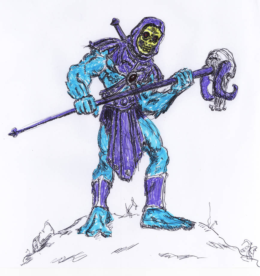 Skeletor Doodle by Bat-Dan