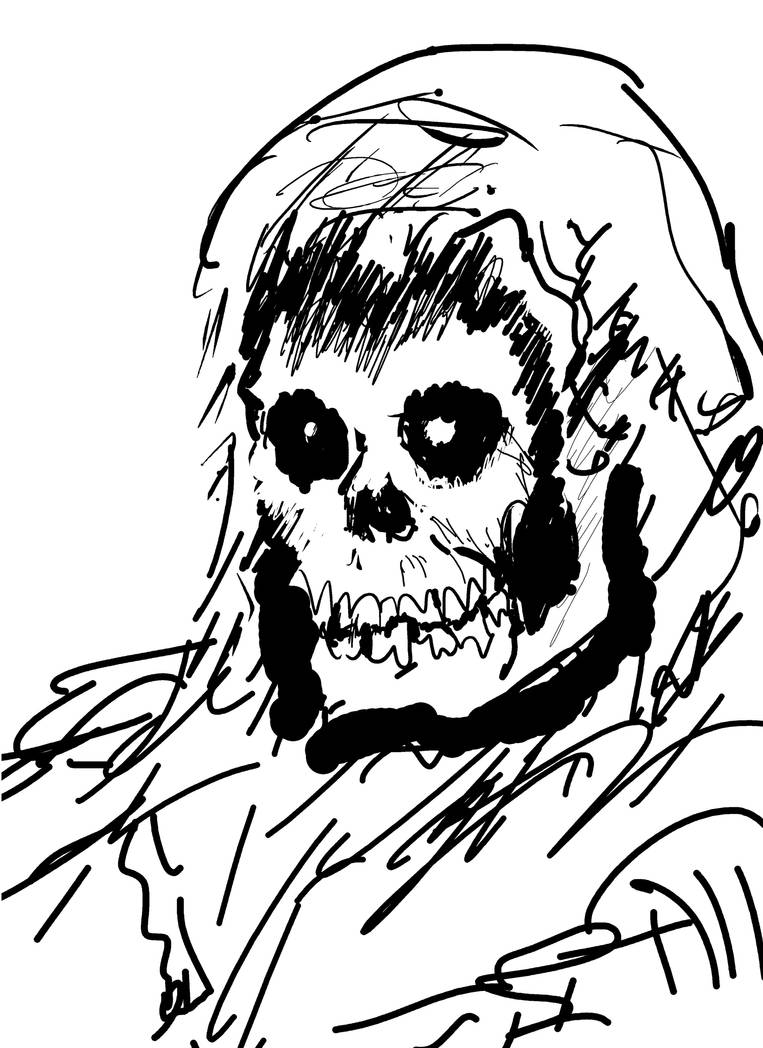 Skeletor ink sketch by Bat-Dan