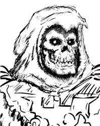 Skeletor's Black and White Headshot