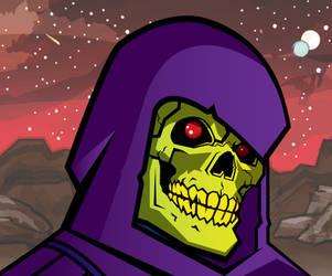 Skeletor portrait by Bat-Dan