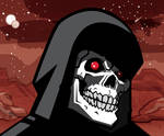 Skeletor portrait Black and White 2 by Bat-Dan