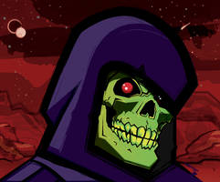 Skeletor Portrait Dark by Bat-Dan