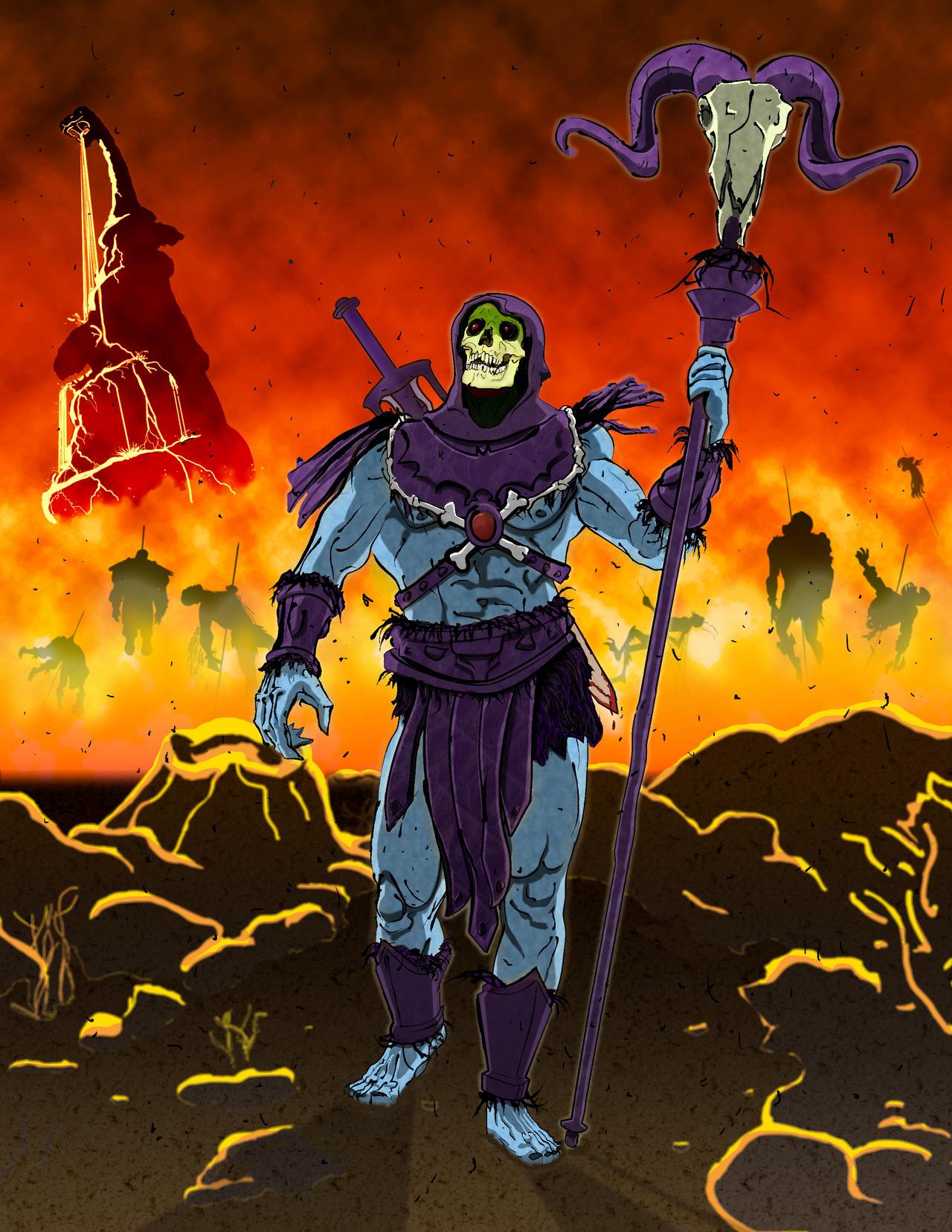 Skeletor Triumphant by Bat-Dan